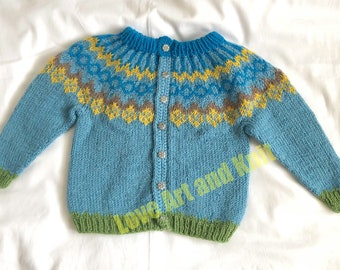 baby cardigan, baby sweater, sweater with buttons, 9 months