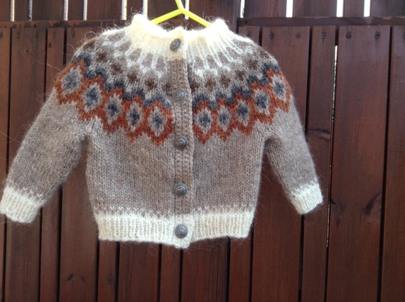 Made To Order Icelandic Sweater Cardigan Kids Knit Etsy