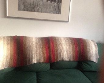 crochet afghan blanket, Icelandic wool and einband