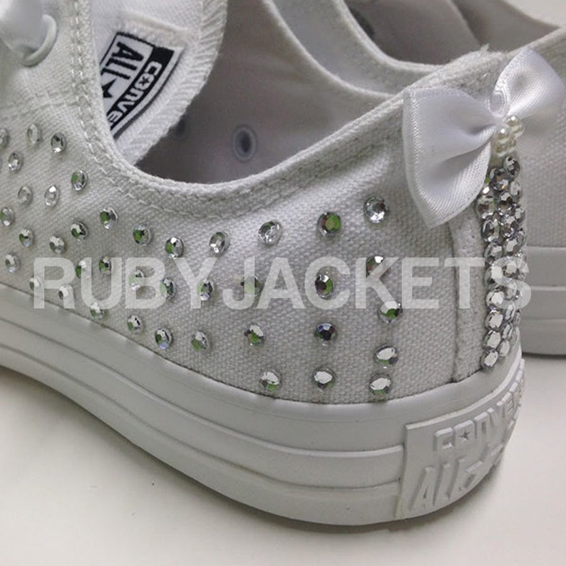 15a3dbf983a840 Scatter Personalised Name and Date Wedding Bridal Converse