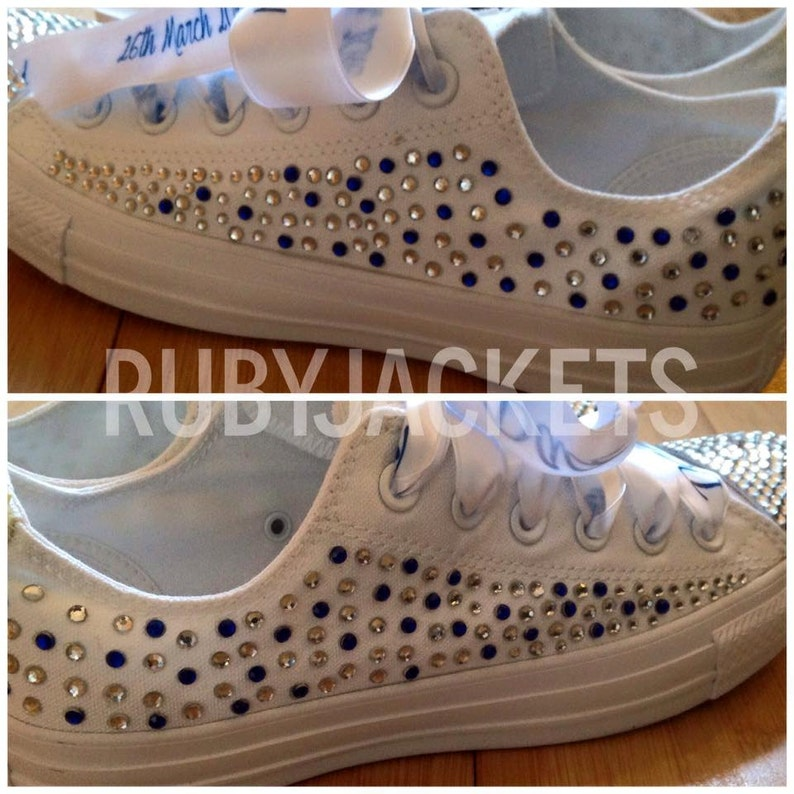 21c2cd5bc60b Multi-Coloured Scatter Personalised Wedding Converse