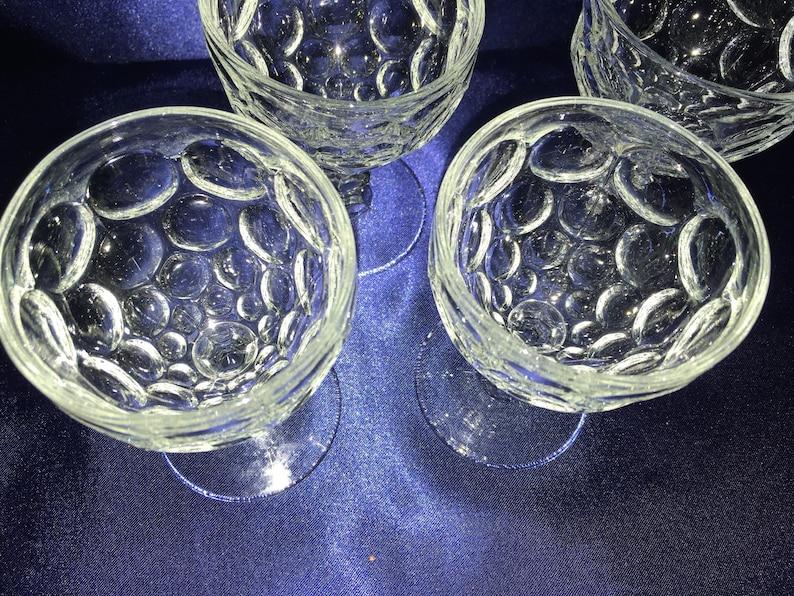 Vintage sorbet glasses set of 4 circle design