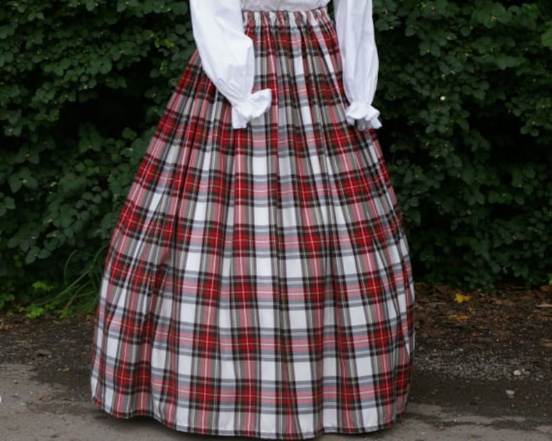 Victorian Clothing, Costumes & 1800s Fashion Ladies Victorian / Edwardian costume SKIRT gentry / ball gown fancy dress Sizes 6-32 Dress Stewart tartan $41.37 AT vintagedancer.com