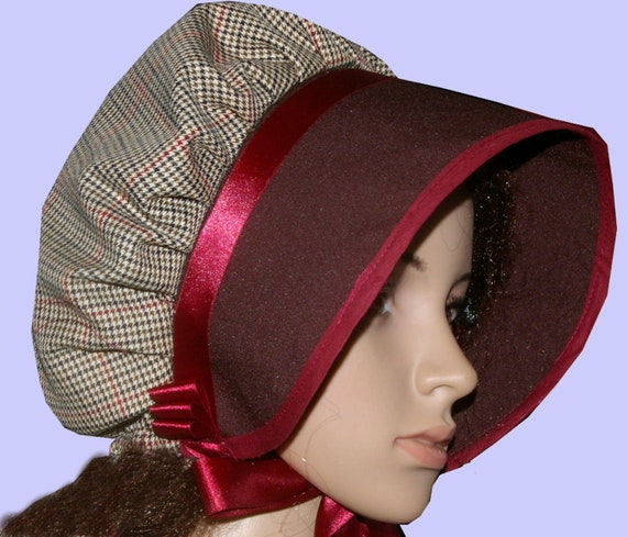 Ladies Victorian Edwardian Style Bonnet Hat Theatre Fancy Dress 2 colours