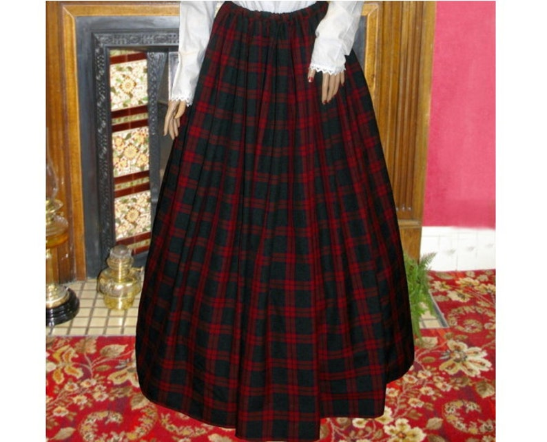 Victorian Skirts | Bustle, Walking, Edwardian Skirts Ladies Victorian / Edwardian costume SKIRT gentry / ball gown fancy dress Sizes 6-32 tartan $41.37 AT vintagedancer.com