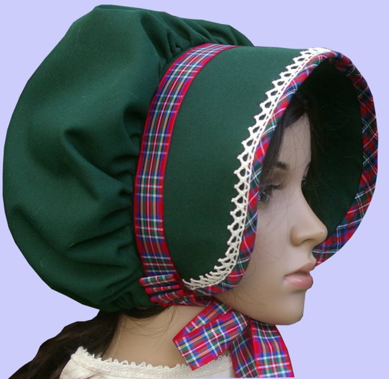 Women's Vintage Hats | Old Fashioned Hats | Retro Hats Ladies Victorian/Edwardian American Civil War costume green bonnet $18.86 AT vintagedancer.com