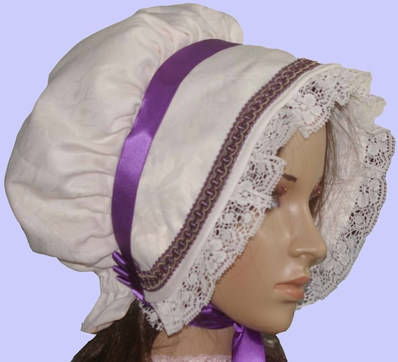 Victorian ladies bonnet costume fancy dress Dickensian carol singer blue