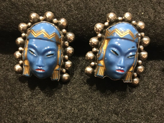 Vintage Mexican Silver Clip Earrings