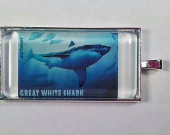 Great White Shark  Carcharodon Carcharias Shark Week Ocean Jaws USA Genuine Postage Stamp