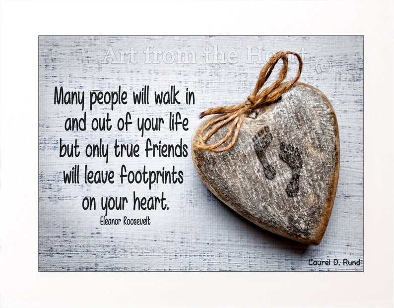 Eleanor Roosevelt Friendship Quote Art Quotes About Etsy