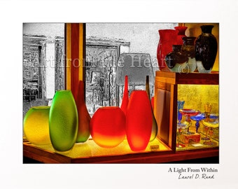A Light from Within - Murano Glass Display, Venetian Glass Vases