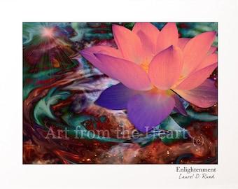 Enlightenment - Lotus flower spiritual art
