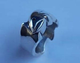 Sterling Silver Ladies Trout Ring T10