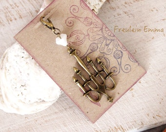 Planercharm CHANDELIER Leuchter Bronze Charm Deko Travelers Notebook  Vintage Plannercharm