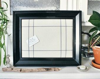 prächtiger Pinnbildrahmen Memoboard im modernen Vintage Stil BLACK and WHITE