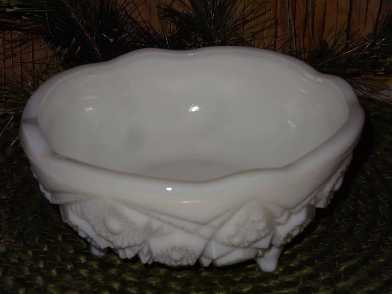 3 Footed McKee Milk Glass Bowl  McKee Thatcher  Milk Glass Candy Dish  Vintage McKee  Vintage Milk Glass