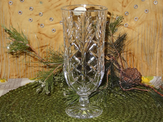 Fifth Avenue Lead Crystal Vase Clear Lead Crystal Vase Etsy
