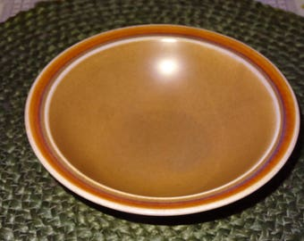 Set of 4 Independence Stoneware Bowls / Interpace / Brown Stoneware Dishes
