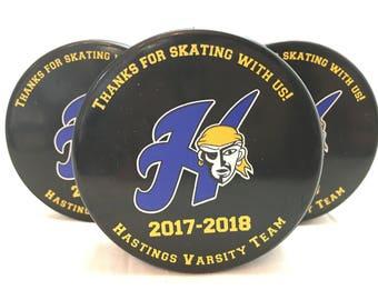 Custom Printed Hockey Pucks and Skate towels