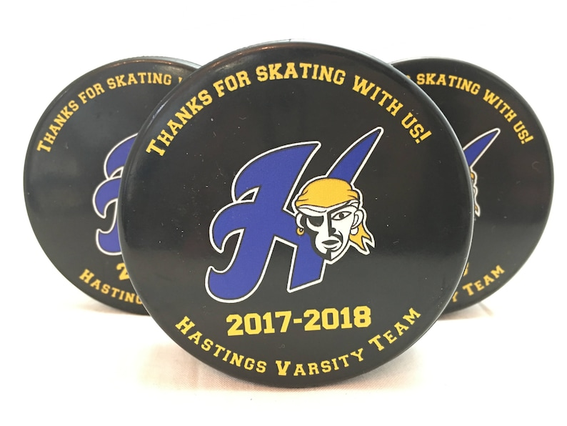 Personalized Hockey Pucks and Skate towels image 0