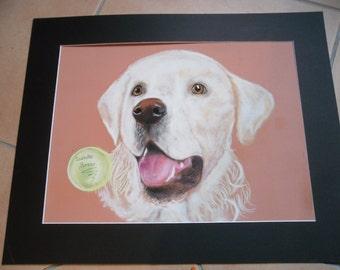 pastel portrait golden size 30x40cm
