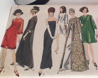 """Vintage 60s Sewing Pattern, Vogue Special Design, Vintage Vogue Pattern 6098, 60s Dress Pattern, 6 Styles, B34"""" W26"""", Uncut Sewing Patterns"""