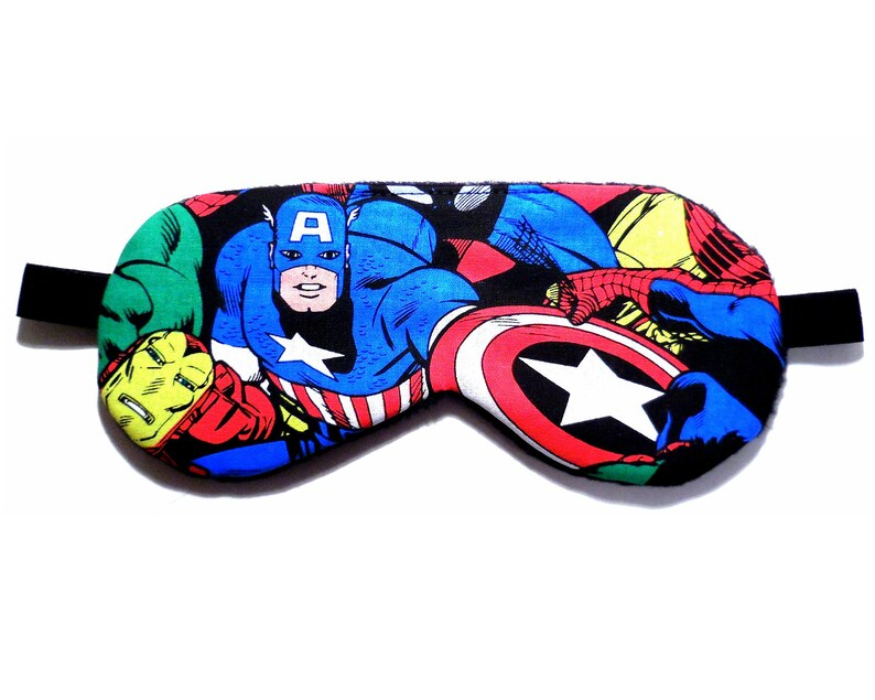 a4bfb865f3 Mascherina di occhio di Capitan America Avengers dormire   Etsy