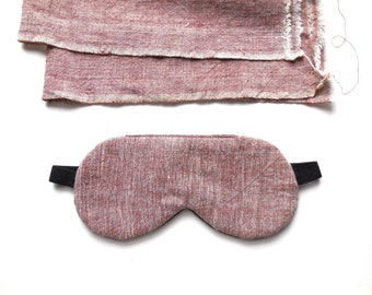 All Organic Cotton Sleep Mask for Men or Women, Cotton Eye Mask, Chambray Blindfold, Adjustable Eye Shade Adult or Kid Plain Travel Eyemask