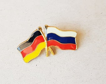 Friendship Flags Germany And Russia Collectors Flag Pins Backpack Retro  Jacket Pin Badge Russian Flag Enamel Pin Brooch Flag Pinback Hatpin