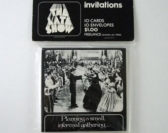 13 Vintage Invitations, Gone With The Wind Film Dance Scene, 1 Extra Envelope, Scarlett O'Hara and Rhett Butler (Vivien Leigh & Clark Gable)