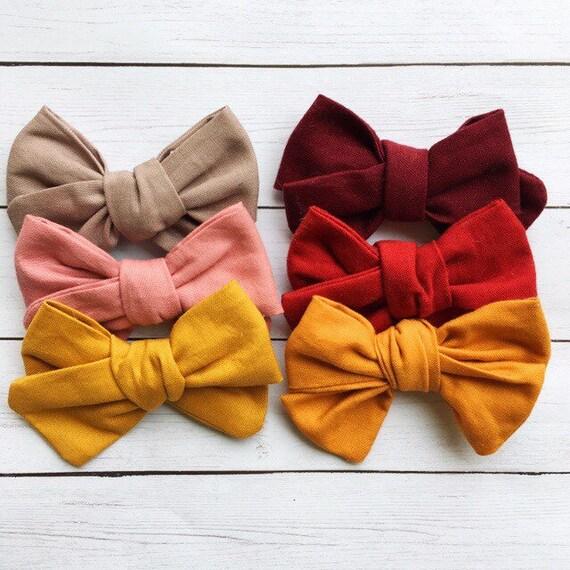 Sailor Hair Bow,Baby Headband Hair Bows For Girls Fabric Hair Bow Or Headband