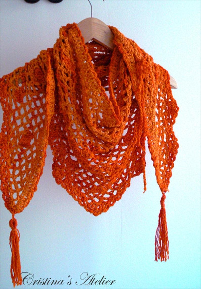 Mandarino Scialle Triangolo Alluncinetto Scialle Arancio Etsy