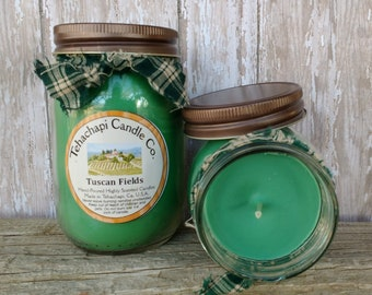 Scented Soy Candle - Jar Candles - Mini Melts - Smelly Jelly - Votive Candles - Air Freshener - Spa Candles - Tuscan Fields Scent