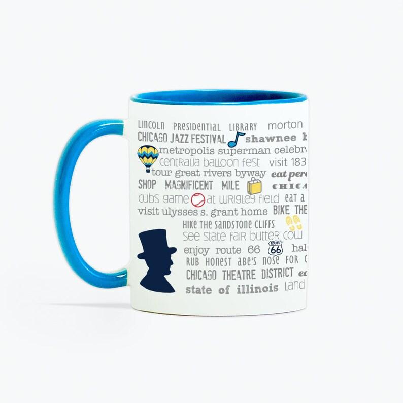 Illinois Bucket List 11 oz Ceramic Mug