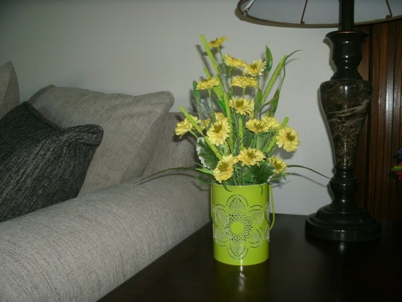 Spring Centerpiece Side Table Floral Arrangement Floral Etsy