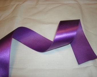 25 yds of Purple Satin Ribbon, Holiday Ribbon, Seasonal Ribbon, Easter Ribbon, Birthday Ribbon, Wedding,