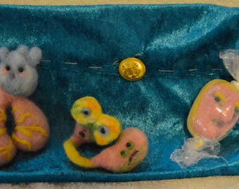 "Anxiety Series, Needle Felted Soft Sculpture Set, ""Stress Ball"" Function"