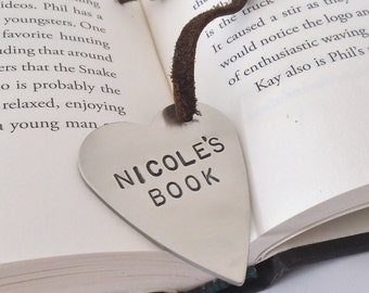 Personalized Bookmark Teacher Gifts Metal Bookmark Graduation Gift Senior Engraved Bookmark Children's Gift Idea for Reader Husband Men Gift