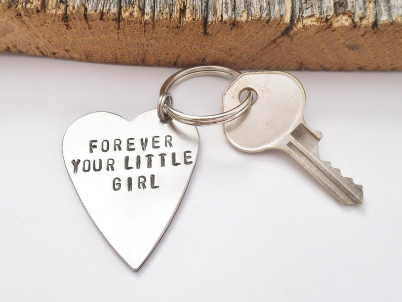028a08ba2b8f Forever Your Little Girl Keychain Personalized for Dad from Daughter on  Wedding Day Gift for Father of the Bride Keyring Customized Metal