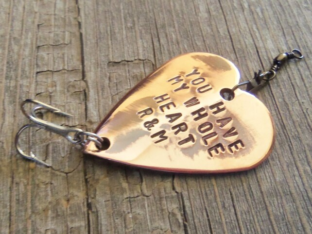 You Have My Whole Heart Fishing Lure Birthday Ideas For Him Personalized Party Favors 60th 30th