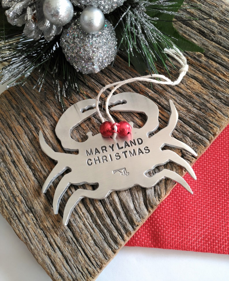 Maryland Ornament Personalized Christmas Ornament Maryland Etsy