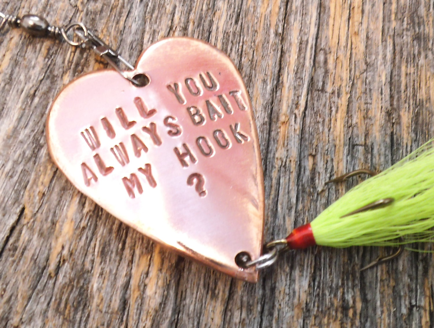 Engagment Gift Will You Always Bait My Hook Fishing Lure | Etsy