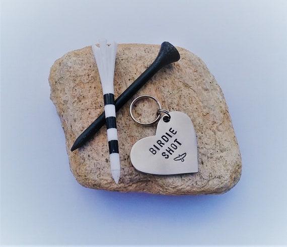 Golfing Key Chain Birdie Shot Heart Keyring Personalized Gift  9cf0d6c339