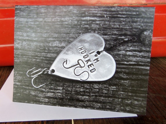 Fishing Birthday Card Fishing Greeting Cards Im Hooked Etsy