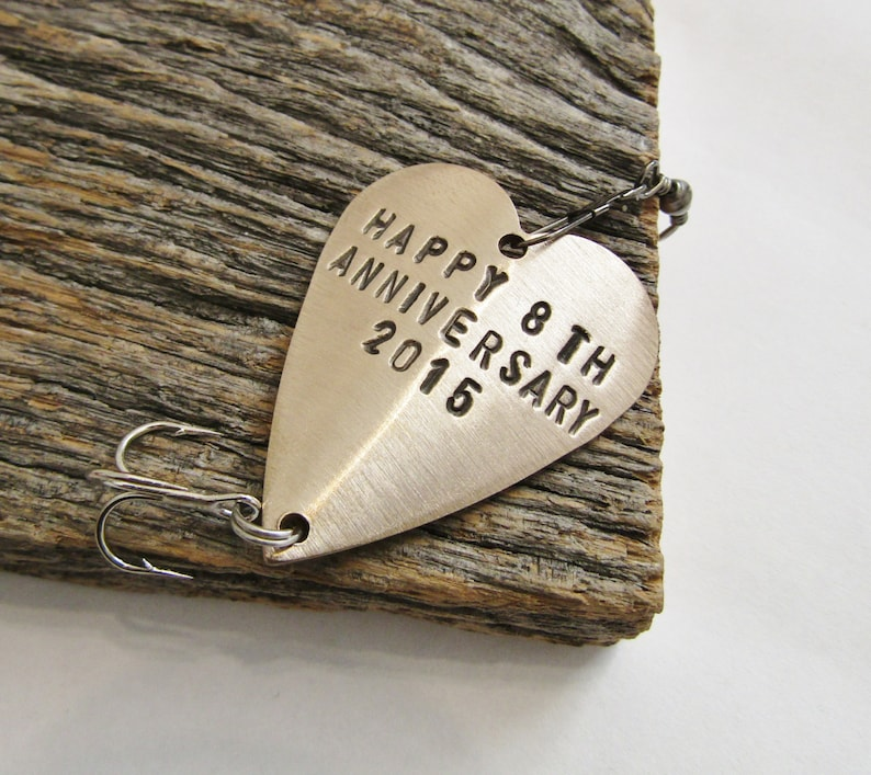 8th Wedding Anniversary Gifts.Eighth Anniversary Gift For 8th Wedding Anniversary Bronze Gift For Him Her Personalized Fishing Lure Custom Commitment Birthday Husband Men