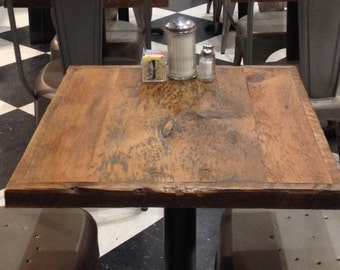Restaurant Table Top,pub Table Top Small, Reclaimed Wood Bar Top, Bistro  Table,24 X 24 Table Top, ADD A TABLE BASE