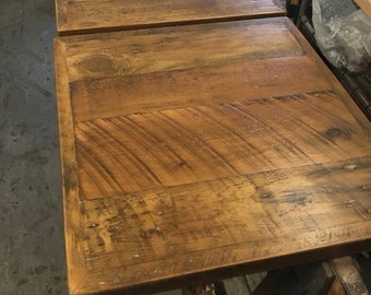 Reclaimed Wood Table Top Etsy - Rough wood table tops