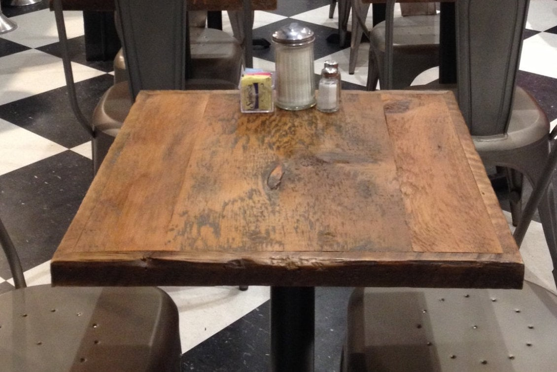 Restaurant Table Toppub Table Top Small Reclaimed Wood Bar Etsy - Rustic restaurant table tops
