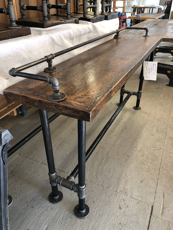 Peachy Industrial Black Pipe Reclaimed Wood Table Reclaimed Industrial Furniture Sofa Table Machost Co Dining Chair Design Ideas Machostcouk