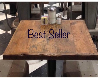 RECLAIMED pub bar  30 x 30 TABLE TOP / Base Height options